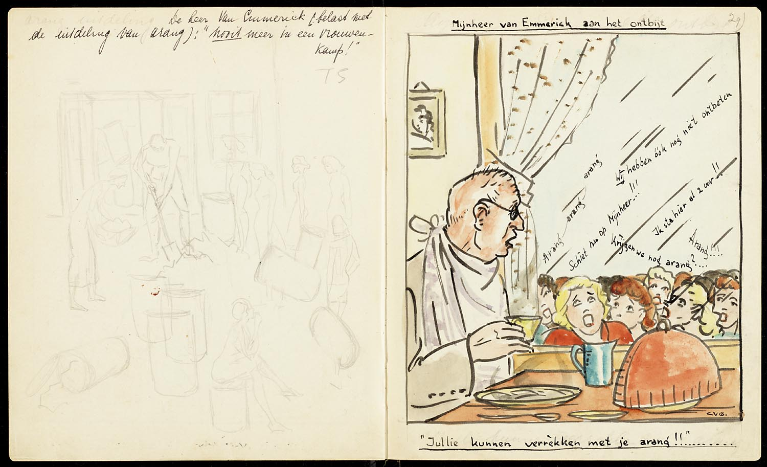 Prisoners 39 drawings from japanese camps in the occupied for 1945 dutch east indies cuisine