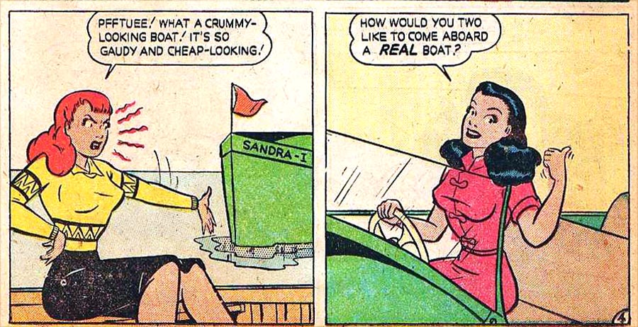 Cartoon Characters 1940s And 1950s : Long forgotten mid century girl comics flashbak