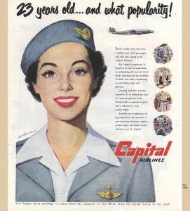 23 years old... and what popularity, Capital Airlines, November 1950