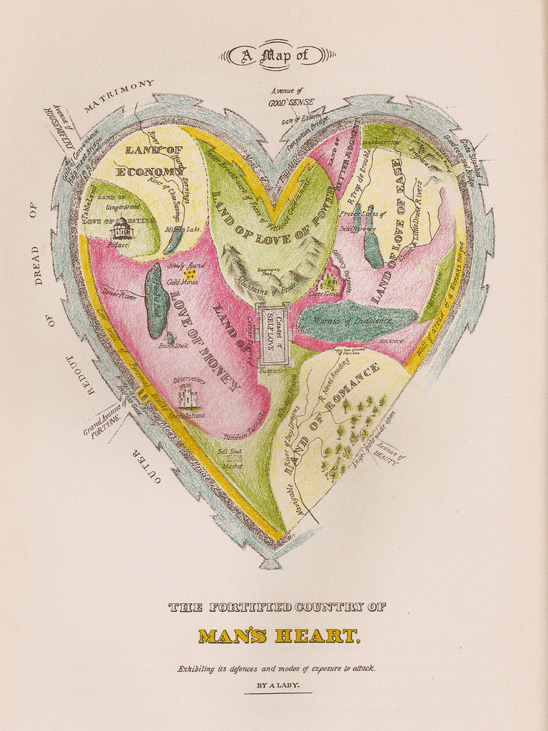 A Map of the Fortified Country of Man's Heart.