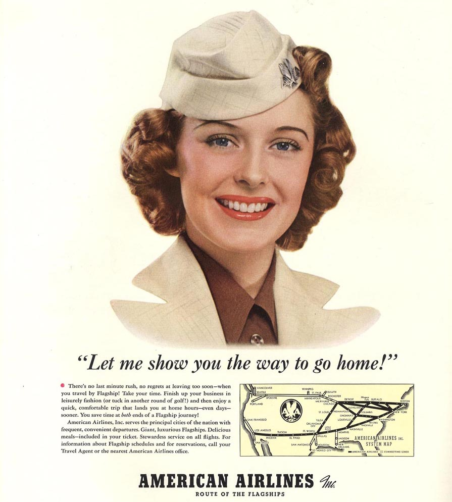 American Airlines, September 1940, Let me show the way to go home