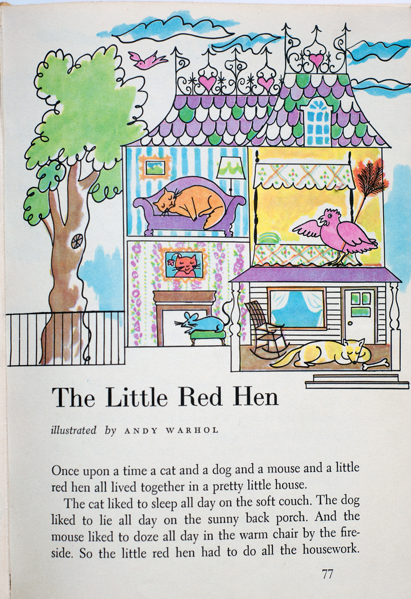 Andy warhol the little red hen big
