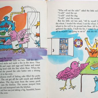 Andy Warhol's Illustrations for The Little Red Hen (1958)