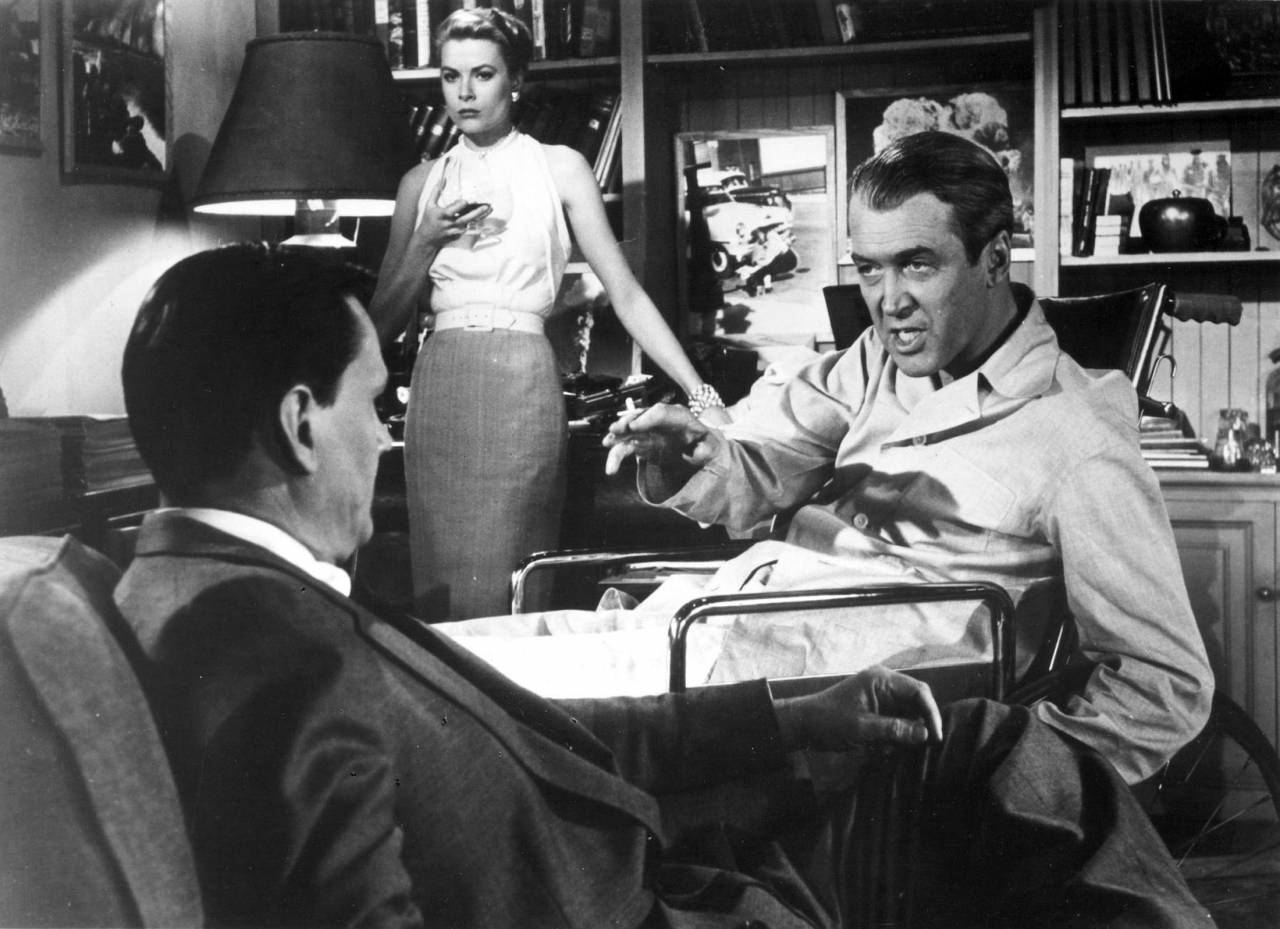 James Stewart and Grace Kelly Rear Window directed by Alfred Hitchcock