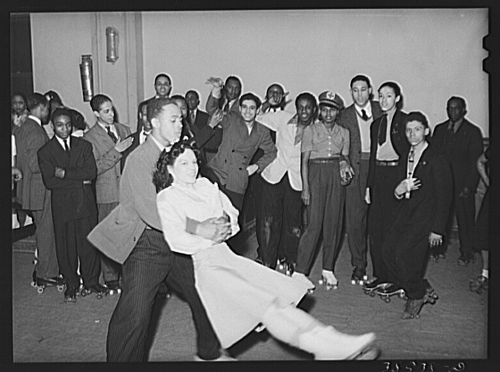 rollerskating April 1941 Southside Chicago