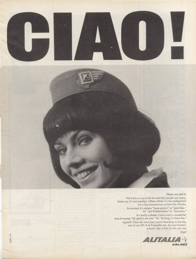 CIAO, Alitalia , June 1965