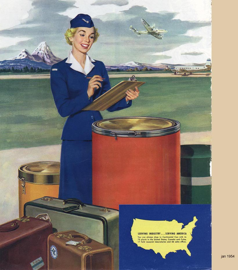 Continental Can, Serving America, January 1954