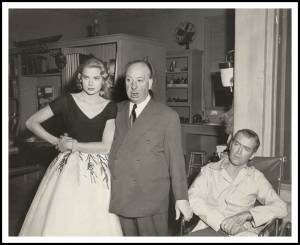 Grace Kelly ,Alfred Hitchcock ,Jimmy Stewart ,Rear Window