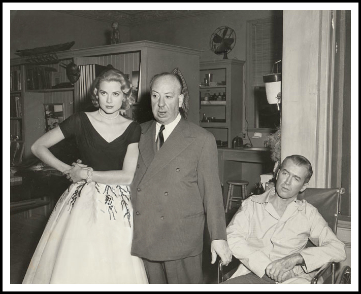 Grace Kelly, Alfred Hitchcock, Jimmy Stewart, Rear Window