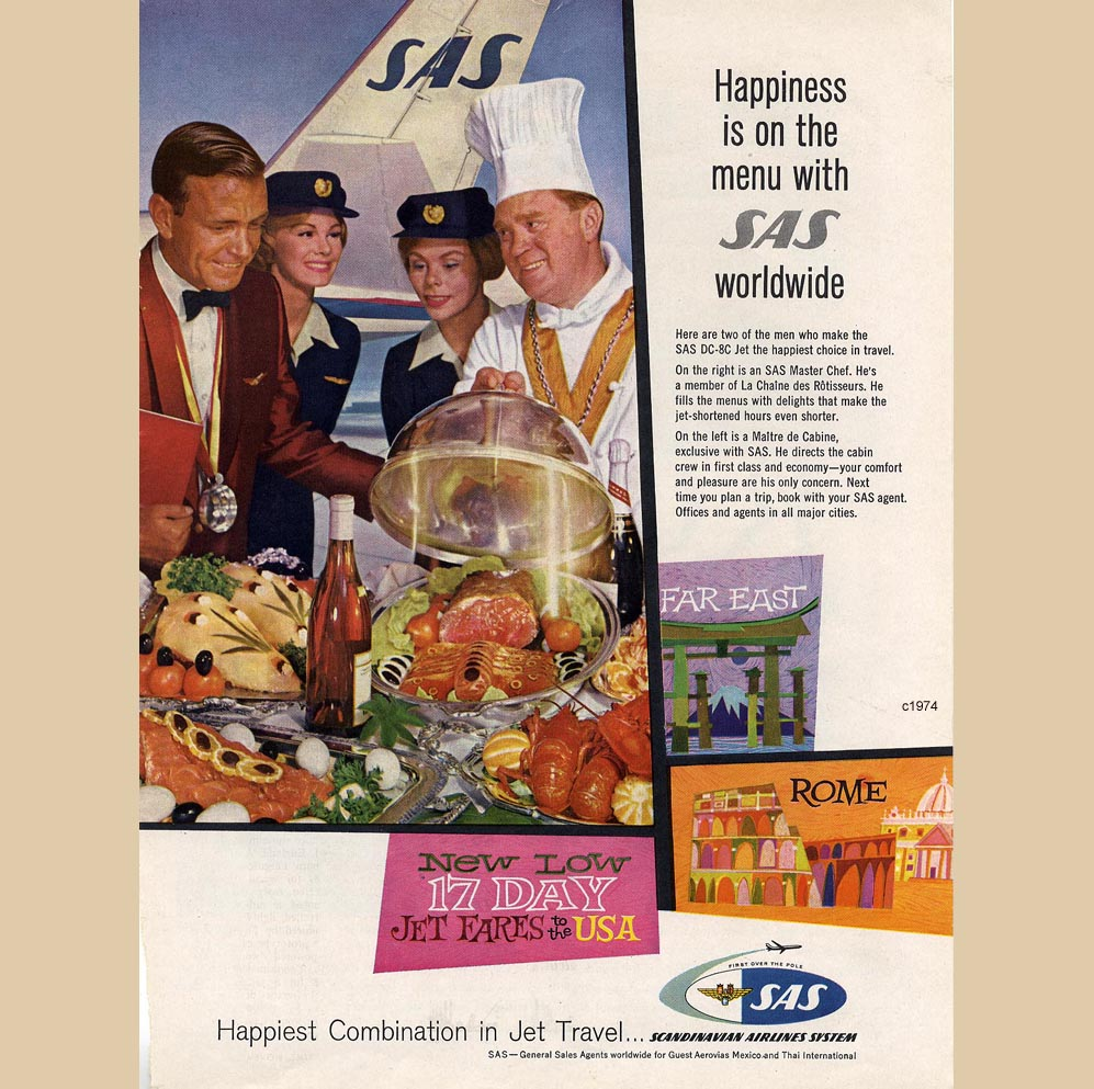 Happiness is on the Menu with SAS worldwide, c1974