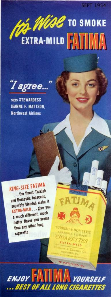 It's wise to smoke extra mild FATIMA, September 1954