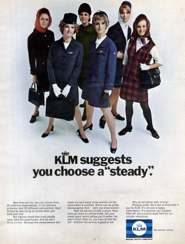 KLM suggests you choose a 'steady', August 1969