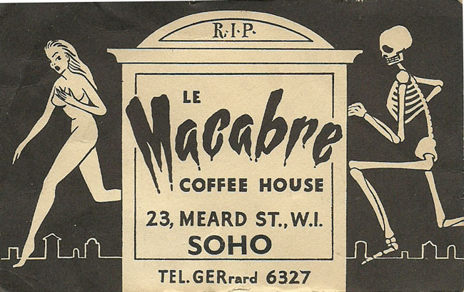 e Macabre London menu prices
