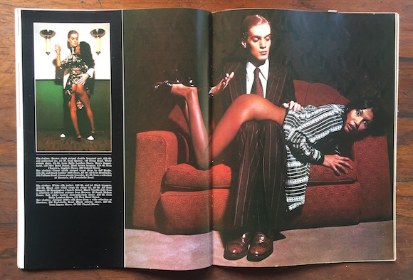 Man-Maid, styling Sheila Rock, photography David Parkinson, Club International March 1974