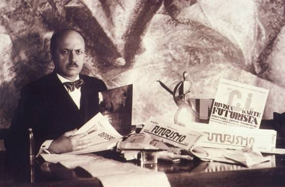 More details Filippo Tommaso Marinetti, author of the Futurist Manifesto.