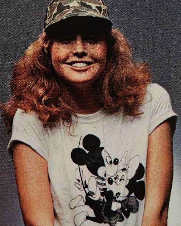 Model in novelty t-shirt in Lei Glamour, summer 1978. Photographer: Unknown