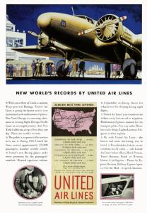 New World Records By United Airlines 1934