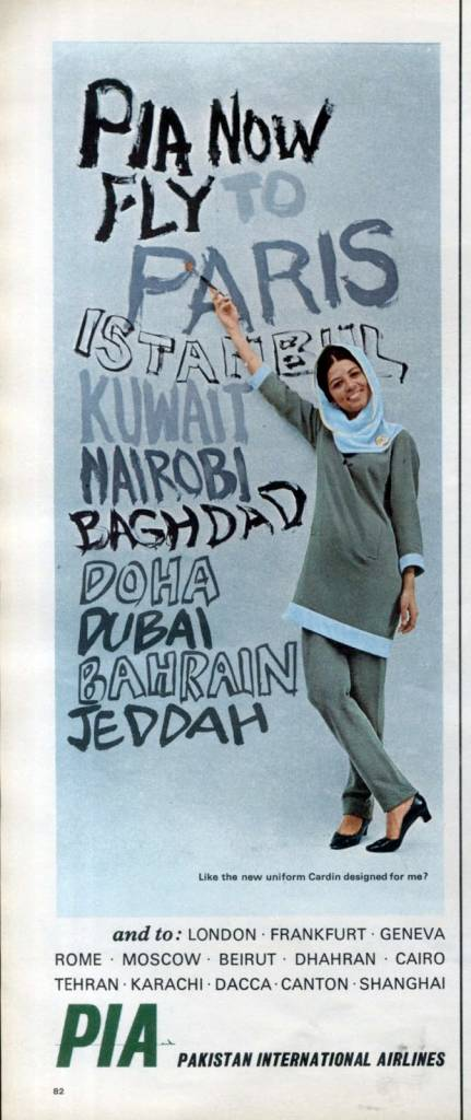 PIA now fly to Paris, etc, January 1967