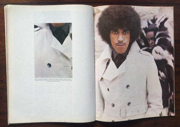 Phil Lynott, styling Sheila Rock, photography Mick Rock, Club International, October 1973