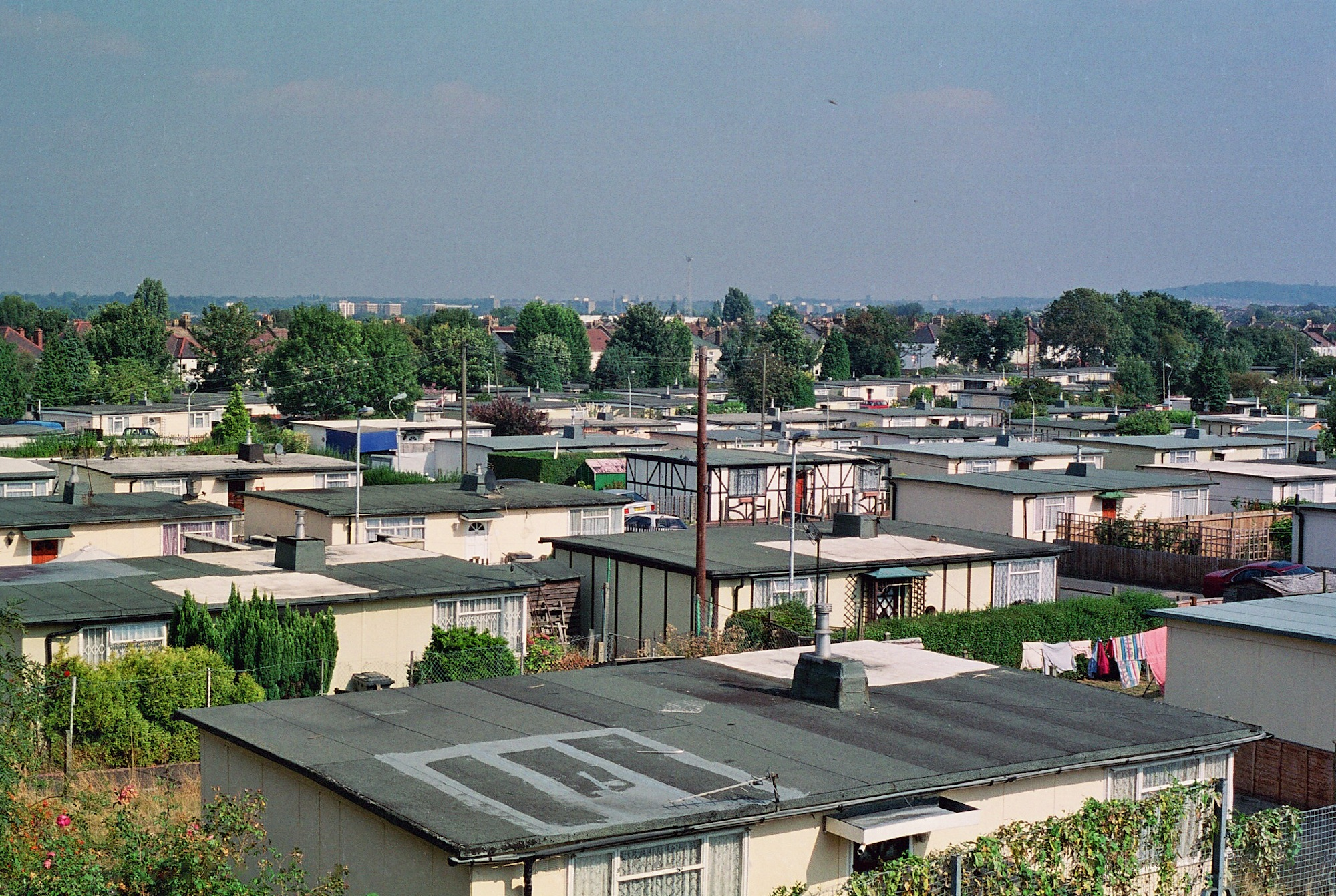 Overview of the Excalibur Estate in Catford, South London, 2004.
