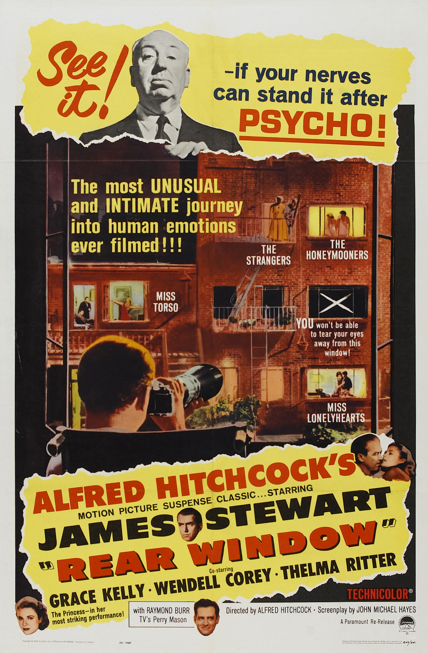 Rear Window directed by Alfred Hitchcock 1954