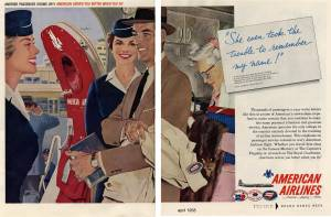 She even took the trouble to remember my name, American Airlines, Al Parker, April 1958
