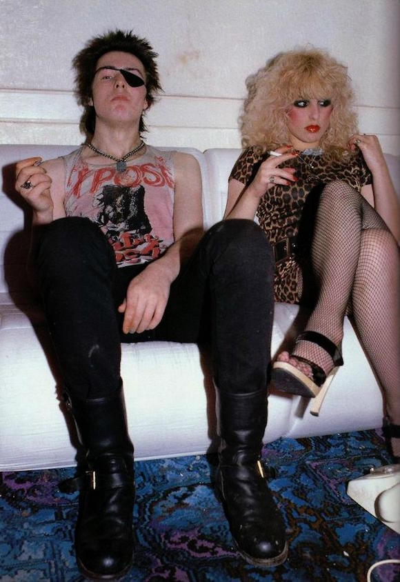 Sid Vicious in Exposé t-shirt with Nancy Spungen, London, April 1978. Photo: Watal Asanuma
