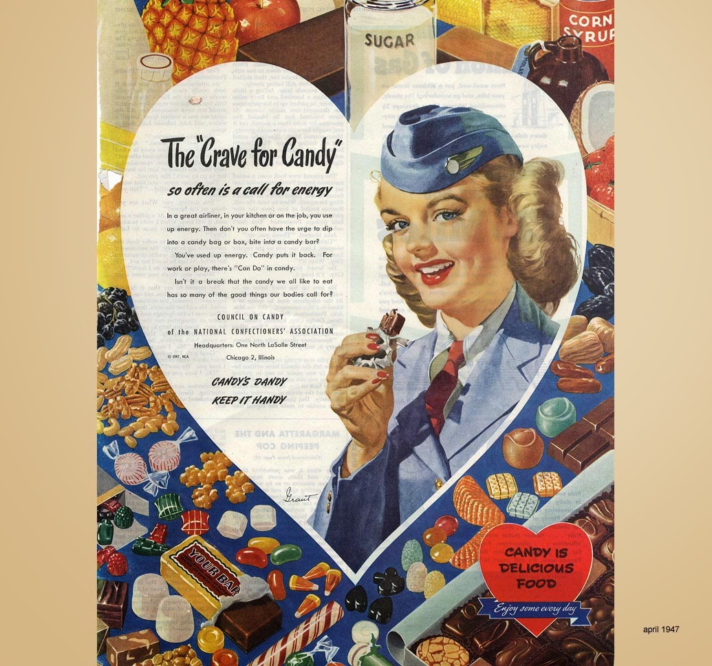 The Crave for Candy, an airhostess speaks 1947