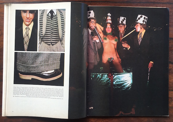 The Gentlemen At Number Ten, styling Sheila Rock, photography David Parkinson, Club International, December 1973/