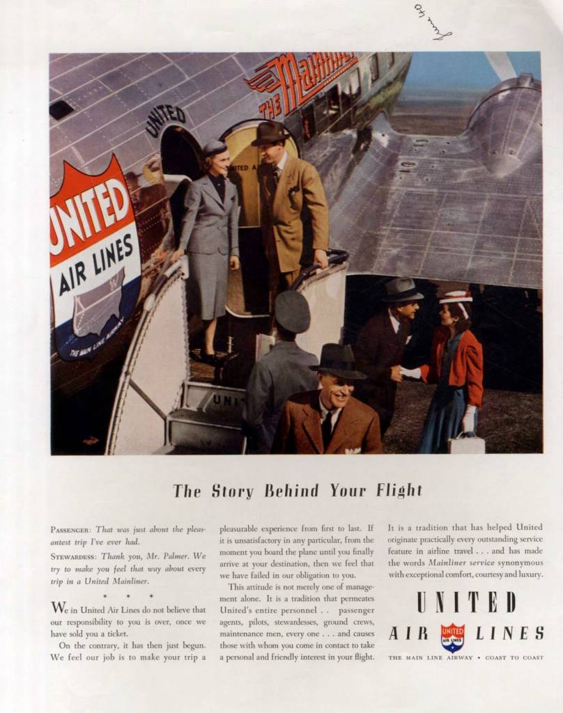 The Story behind your flight, United Air Lines, June 1940