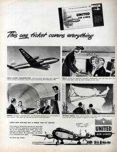 This One Ticket covers Everything, United Airlines, April 1949