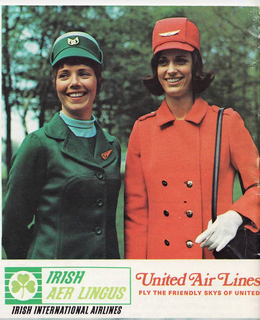 United Airlines Aer Lingus Stewardesses 1971