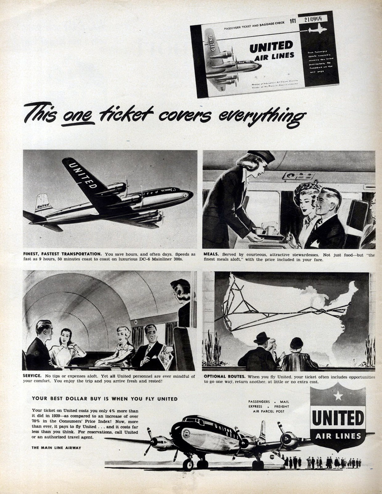 United Airlines Ad This One Ticket Flashbak