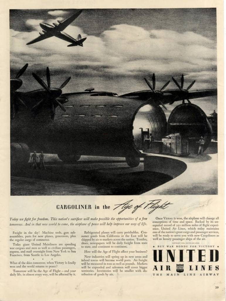 United Airlines ad ww2