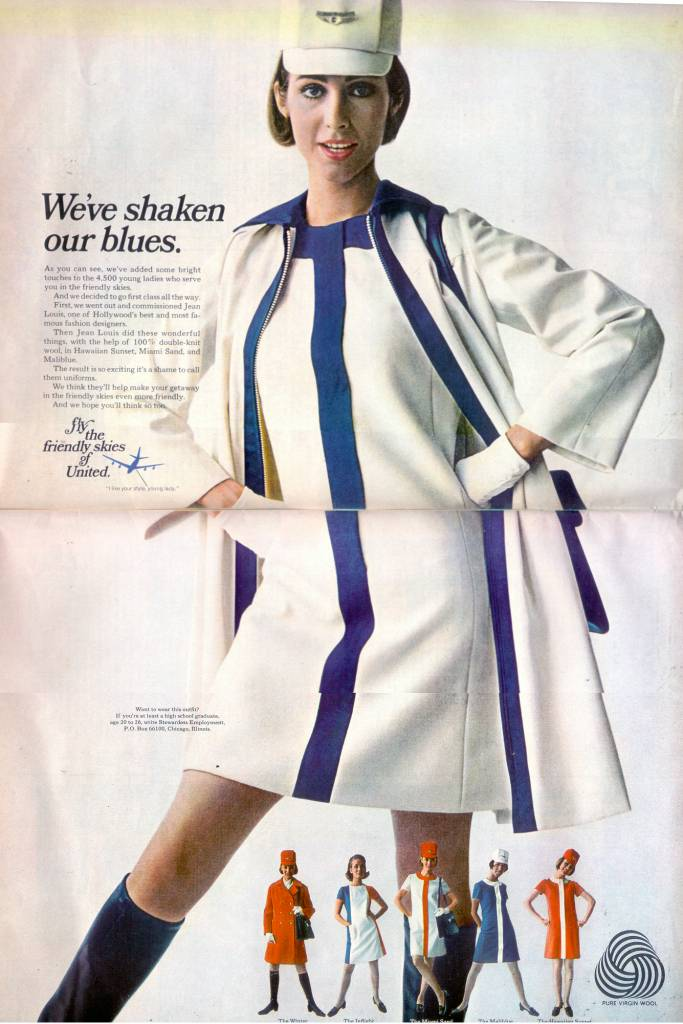 United Airlines stewardess 1968