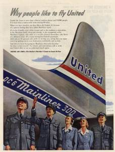 Why people like to fly United, July 1950
