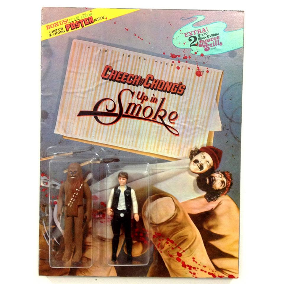 Cheech and Chong up in smoke action figure