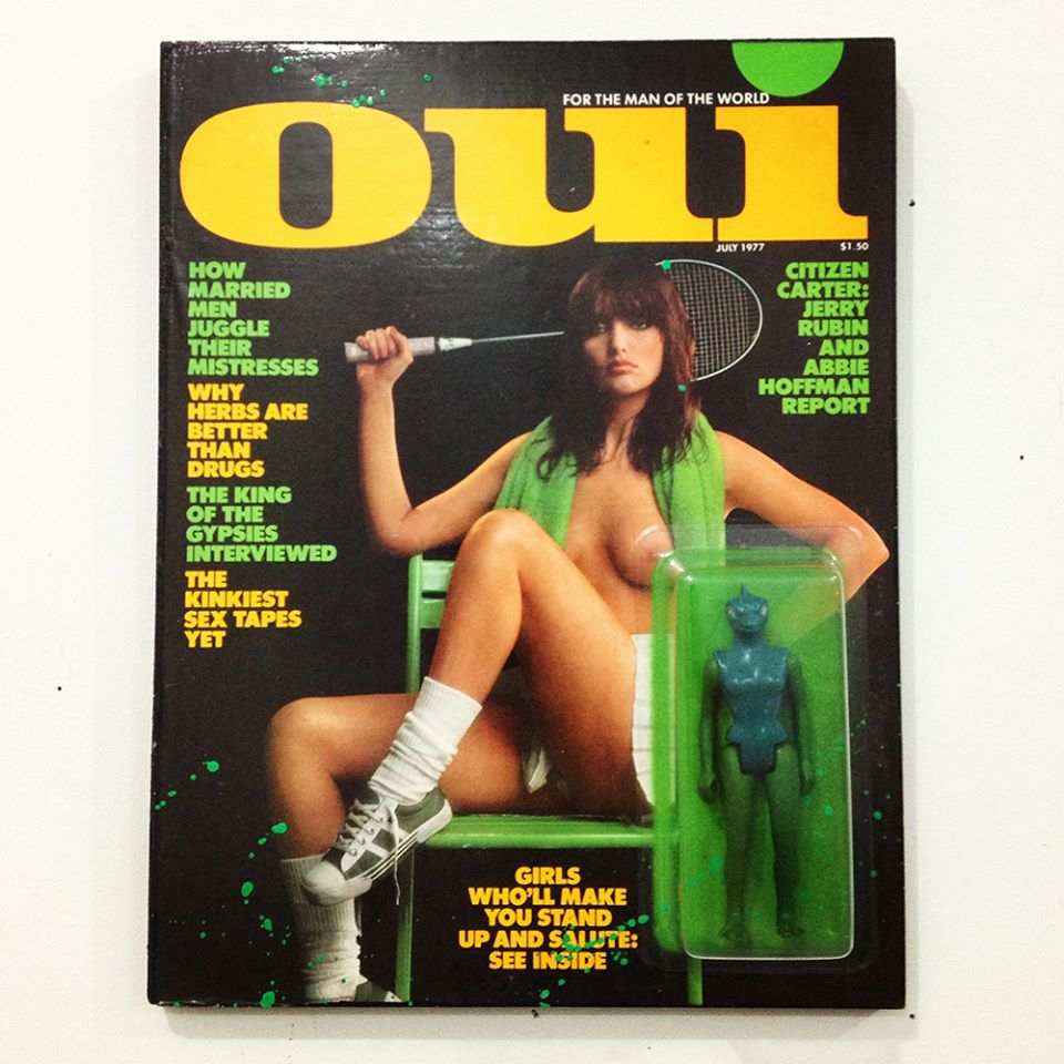 Oui magaazine action figure