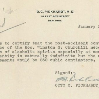 Winston Churchill's License To Drink 'Unlimited' Alcohol In Prohibition America And How Careless Driving Saves Lives