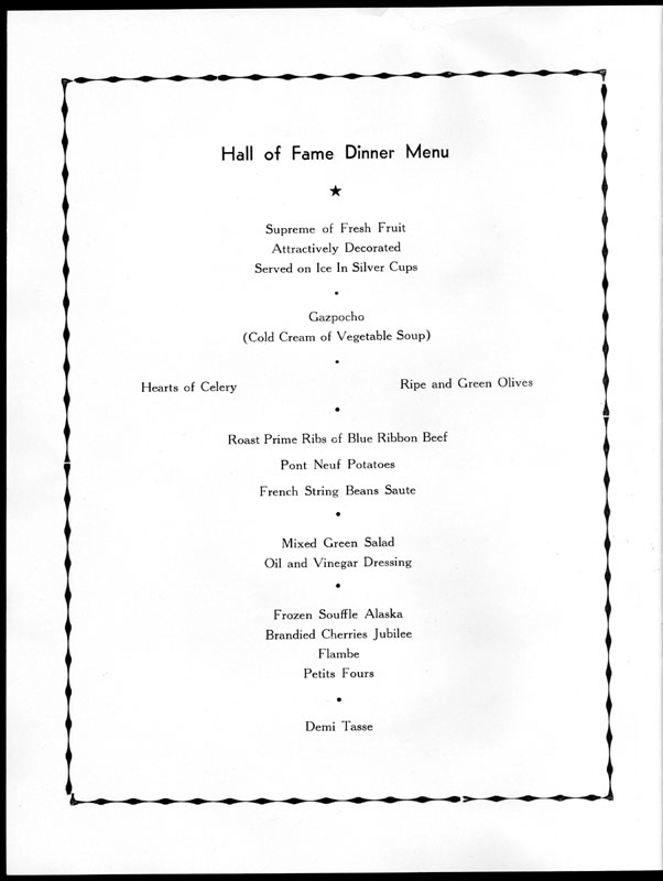 Cover and selected pages from program for Southern Christian Leadership Conference Hall of Fame dinner honoring Jackie Robinson, July 20, 1962, Waldorf-Astoria, New York City.