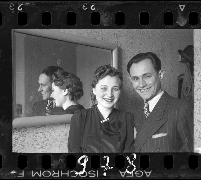 c. 1940-1944 Portrait of a couple.