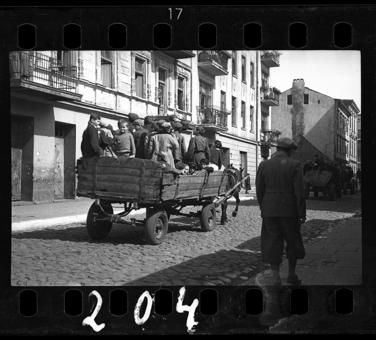 1942 Children being transported to Chelmno nad Nerem (renamed Kulmhof) death camp.