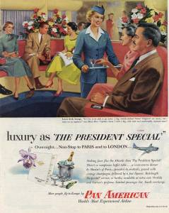 luxury in the President Special, Pan American Airlines, 1949