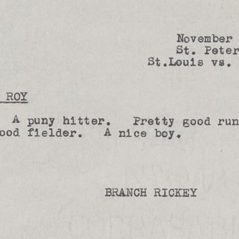 Branch Rickey's Jackie Robinson Scouting Report That Saved America