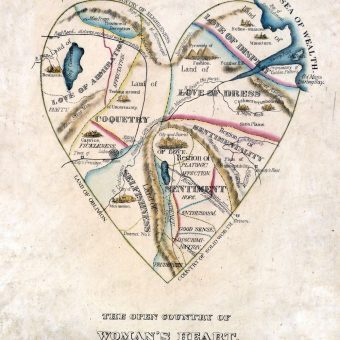 Victorian Maps of Very Different Male and Female Hearts