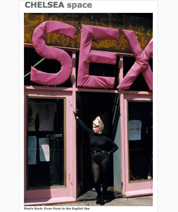 Sheila Rock, 'Jordan in doorway of Sex 1977',