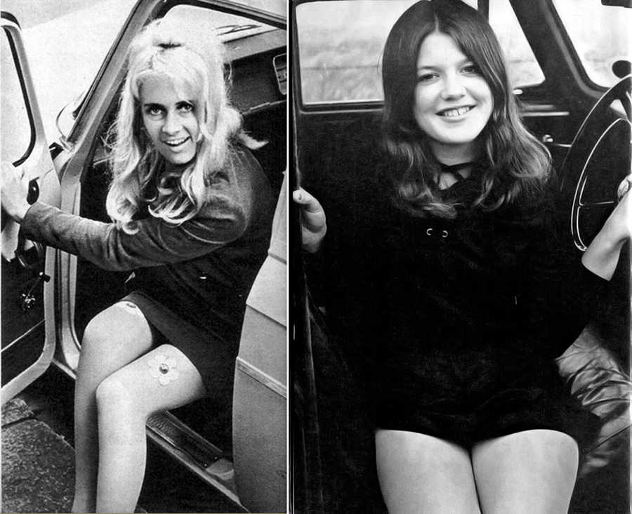 vintage ladies behind the wheel