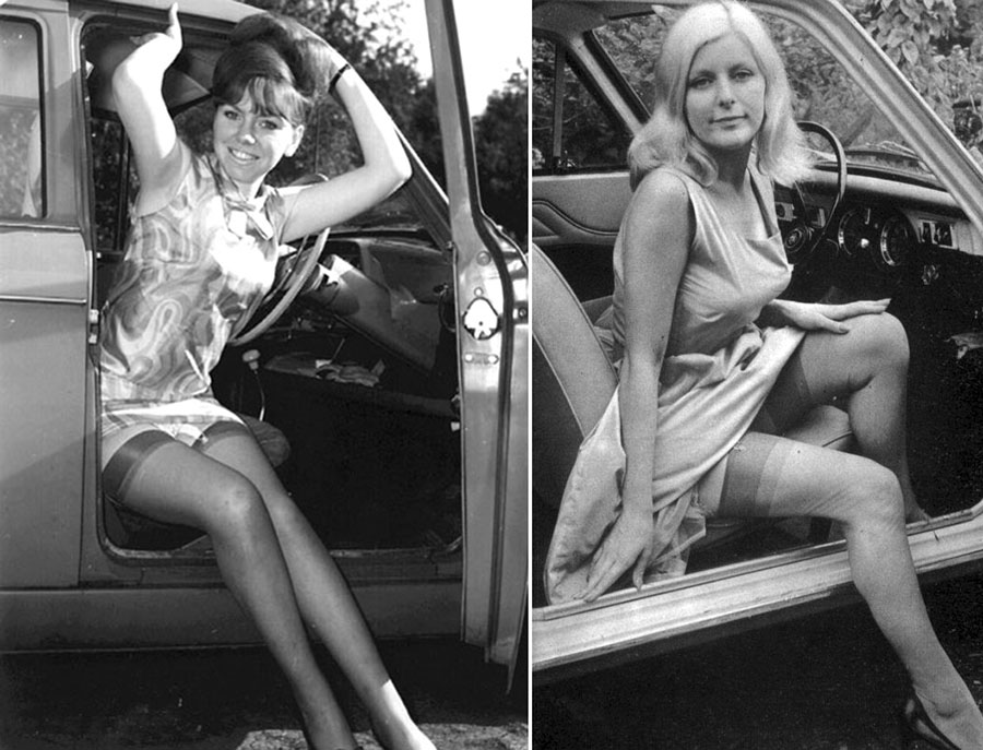 vintage photos of ladies stepping out from the driver u2019s seat