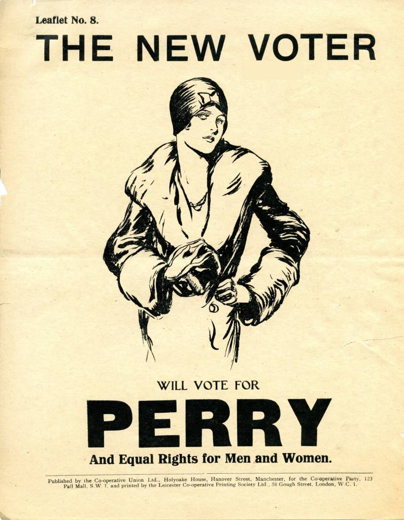 A Co-operative party leaflet from 1929 – the 'flapper election'.