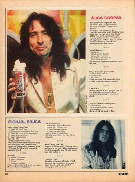 Alice Cooper recipe alcohol b